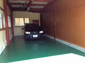 ガレージ内