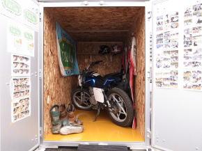 バイクガレージ使用例
