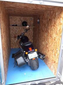 バイクガレージ+ハーレー